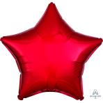 Metallic Red Star Standard Unpackaged Foil Balloons S15 - 10 PC