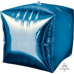 """Cubez Blue Unpackaged Foil Balloons 15""""/38cm G20 - 3 PC"""