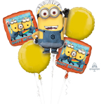 Despicable Me Minions Happy Birthday Foil Balloon Bouquets P75 - 5 PC
