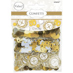 50th Anniversary-Gold Confetti Mixes - 12 PKG/3