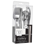 Stainless Silver Assorted Premium Cutlery - 12 PKG/32