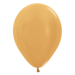 "Metallic Solid Gold R 570 Latex Balloons 12""/30cm - 25 PC"