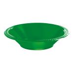 Festive Green Plastic Bowl 355ml - 10 PKG/20