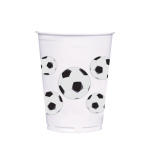 Soccer Fan Plastic Cup 414ml  - 12 PKG/8