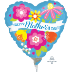 Mother's Day Blue Mini Air-Filled Foil Balloons A15 - 5 PC