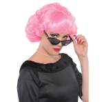 Adults Pink Wig - 3 PC
