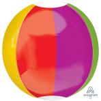 """Beach Ball Orbz Foil Balloons 15""""/38cm w x 16""""/40cm h G20 - 5 PC"""