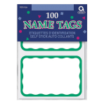 Name Tags Green Border - 12 PKG/100