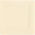 Vanilla Crème Square Paper Plates 18cm - 6 PKG/20