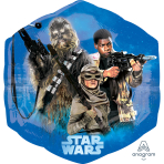 "Star Wars The Force Awakens SuperShape Foil Balloons 22"" / 53cm X 23"" / 58cm P38 - 5 PC"