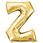 """Letter Z SuperShape Gold Foil Balloon 34""""/""""86cm P50 - 5 PC"""