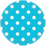 Caribbean Blue Dots Paper Plates 23cm - 12 PKG/8