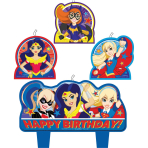 DC Super Hero Girls Candle Birthday Set - 6 PKG/4