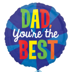 Dad You're the Best Standard Foil Balloons S40 - 5 PC