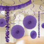 Purple Room Decoration Kits - 6 PKG/18