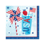 Celebrate USA Luncheon Napkins 33cm - 12 PKG/36