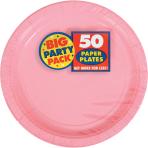New Pink Paper Plates 23cm - 6 PKG/50