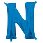 """Letter N Blue Minishape Foil Balloons 16""""/40cm A04 - 5 PC"""