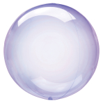 "Crystal Clearz Purple Packaged Balloons 18""/46cm S40 - 5 PC"