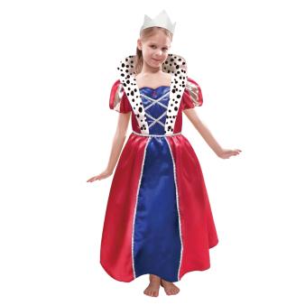 Children Queen Dress & Crown Costume - Age 6-8 Years - 1 PC