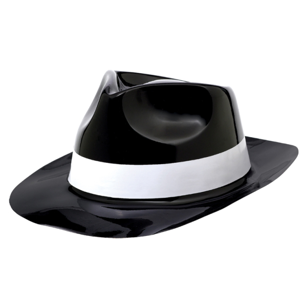 50s Classic Plastic Fedora Hats - 24 PKG   Amscan International e319b63853b