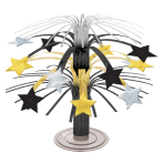 Hollywood Black & Gold Stars Cascade Centrepieces 19cm - 12 PC