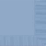 Pastel Blue 2-Ply Luncheon Napkins 33cm - 12 PKG/50
