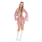 Girls Disco Diva Costume - Age 12-14 Years - 1 PC