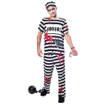 Zombie Convict Costume - Large Size - 1 PC