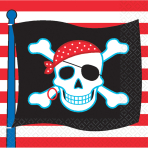 Pirate Party Luncheon Napkins - 12 PKG/16