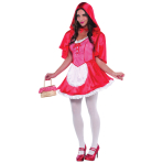 Adults Miss Red Riding Hood Costume - Size 10-12 - 1 PC