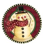 Cozy Snowman Plates 17.7cm - 12 PKG/8