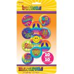 60s Groovy Buttons/Badges - 12 PKG/10