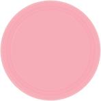 Baby Pink Paper Plates 17.7cm - 12 PKG/8