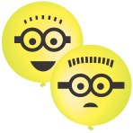 Minions Punch Balls Latex Balloons - 6 PKG/2