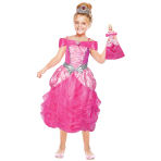 Barbie Heart Princess Girls Costume & Mini Me Doll - Age 3-5 Years - 1 PC