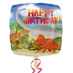 Happy Birthday Dinosaur Standard Foil Balloons S40 - 5 PC