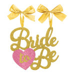 Bride to Be Glitter Chair MDF Signs 32cm x 32cm - 8 PC