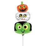 Halloween Heads Mini Foil Balloons A30 - 5 PC