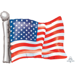 American Flag SuperShape Foil Balloons P35 - 5 PC
