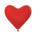 "Fashion Colour Heart Solid Red 015 Latex Balloons 12""/30cm - 50 PC"
