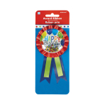 Brilliant Balloon Confetti Award Ribbons - 6 PC