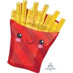 """French Fries SuperShape XL Foil Balloons 23""""/58cm w x 28""""/71cm h P30 - 5 PC"""