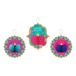 Diwali Honeycomb Hanging Decorations - 6 PC