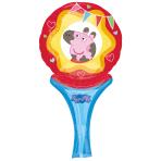 """Peppa Pig - Inflate-a-Fun Balloons - 6""""/15cm w x 12""""/30cm h - A05 - 5 PC"""