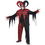 Adults Krazed Jester Clown Costume - Plus Size - 1 PC