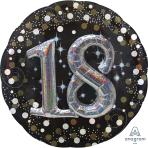 "Gold Sparkling Celebration 18th Multi Foil Balloons 36""/91cm P75 - 5 PC"
