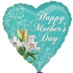 Happy Mother's Day Lily Standard HX Foil Balloons S40 - 5 PC