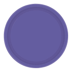 New Purple Paper Plates 17.7cm - 12 PKG/8