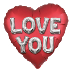 Love You Letters Satin Luxe XL Standard Foil Balloons S40 - 5 PC